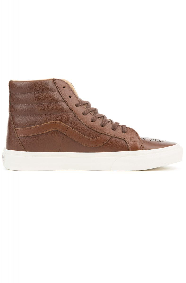 81da91eb794 The Sk8 Hi Reissue Lux Leather in Shaved Chocolate and Porcini