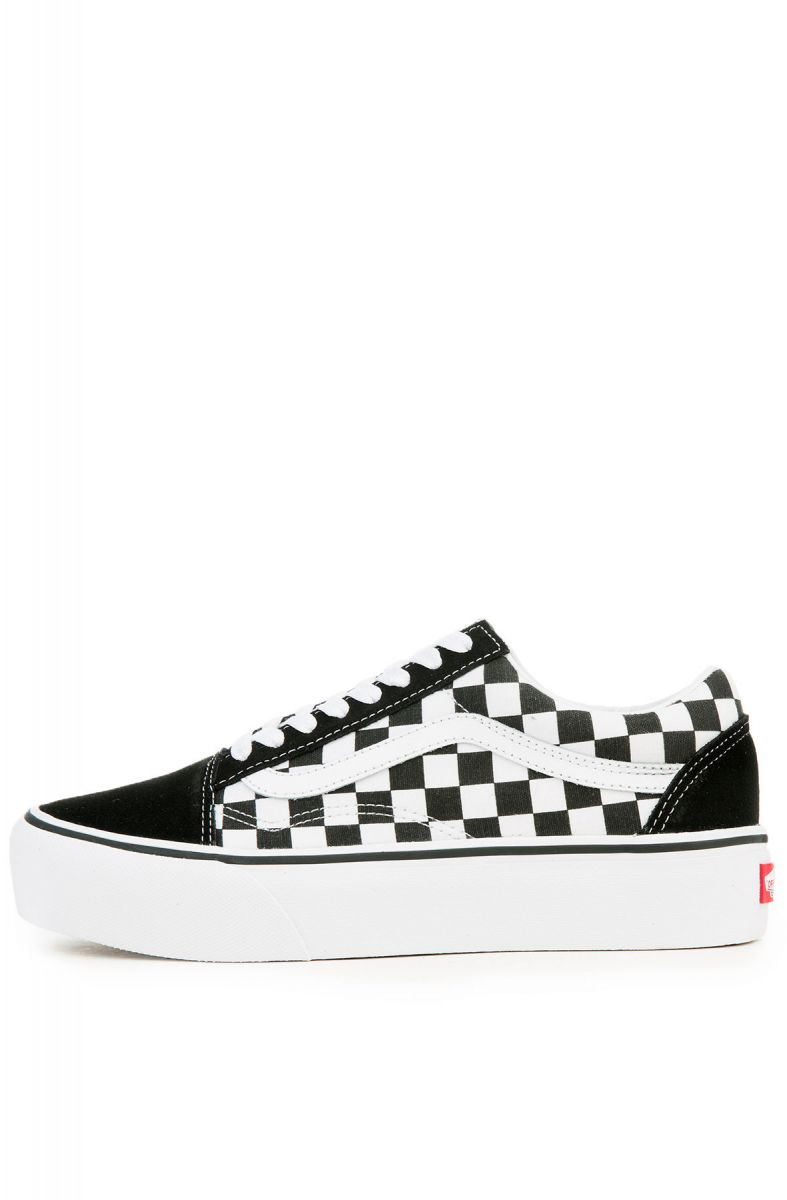 4d263276ba3 The Women s Old Skool Platform in Checkerboard Black and True White