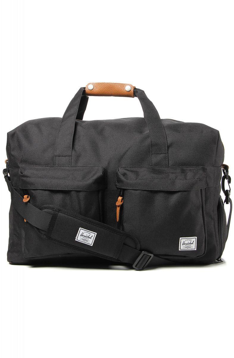 The HERSCHEL SUPPLY Walton Duffle Bag in Black d8ccc1b0b4f22