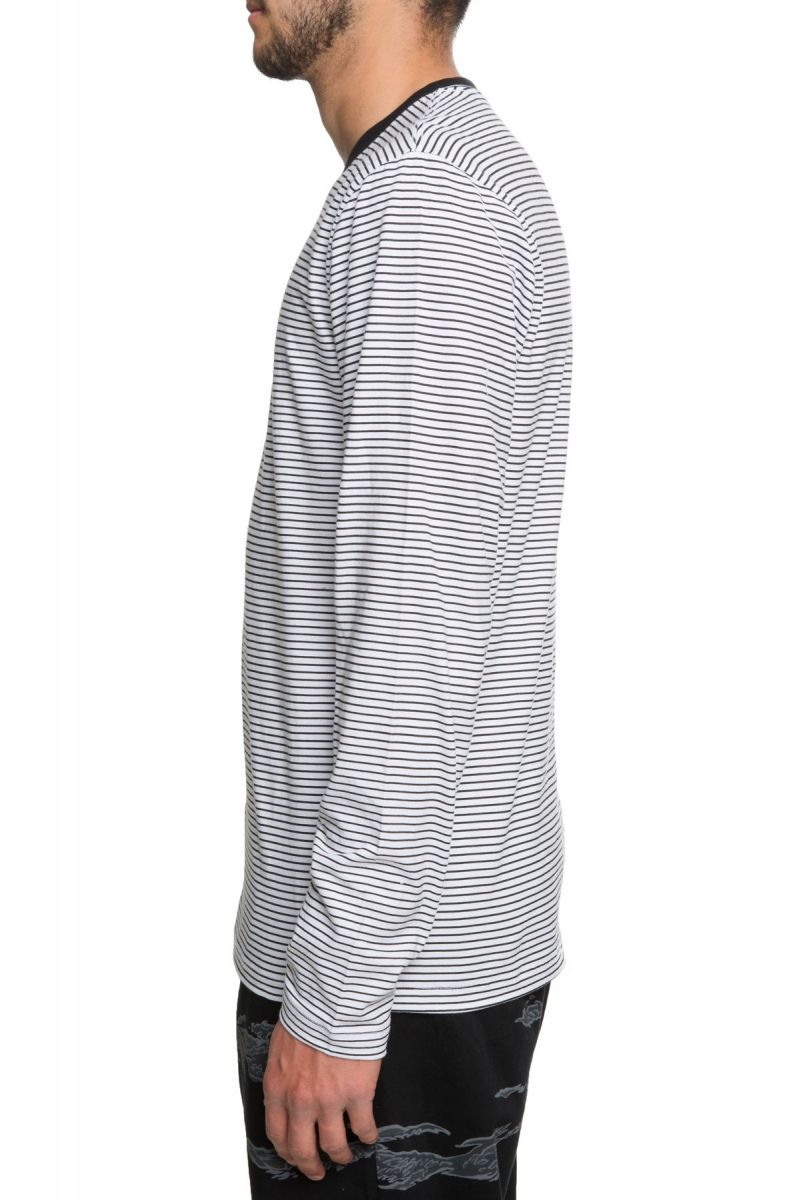 c147c538ee ... The Engineered Vans Striped Long Sleeve in Black and White ...