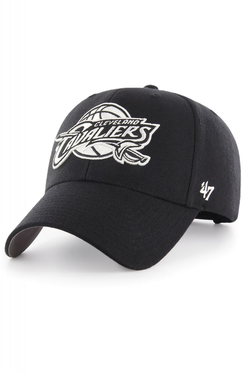 52ea65e0 The Cleveland Cavaliers '47 MVP Hat in Black and White
