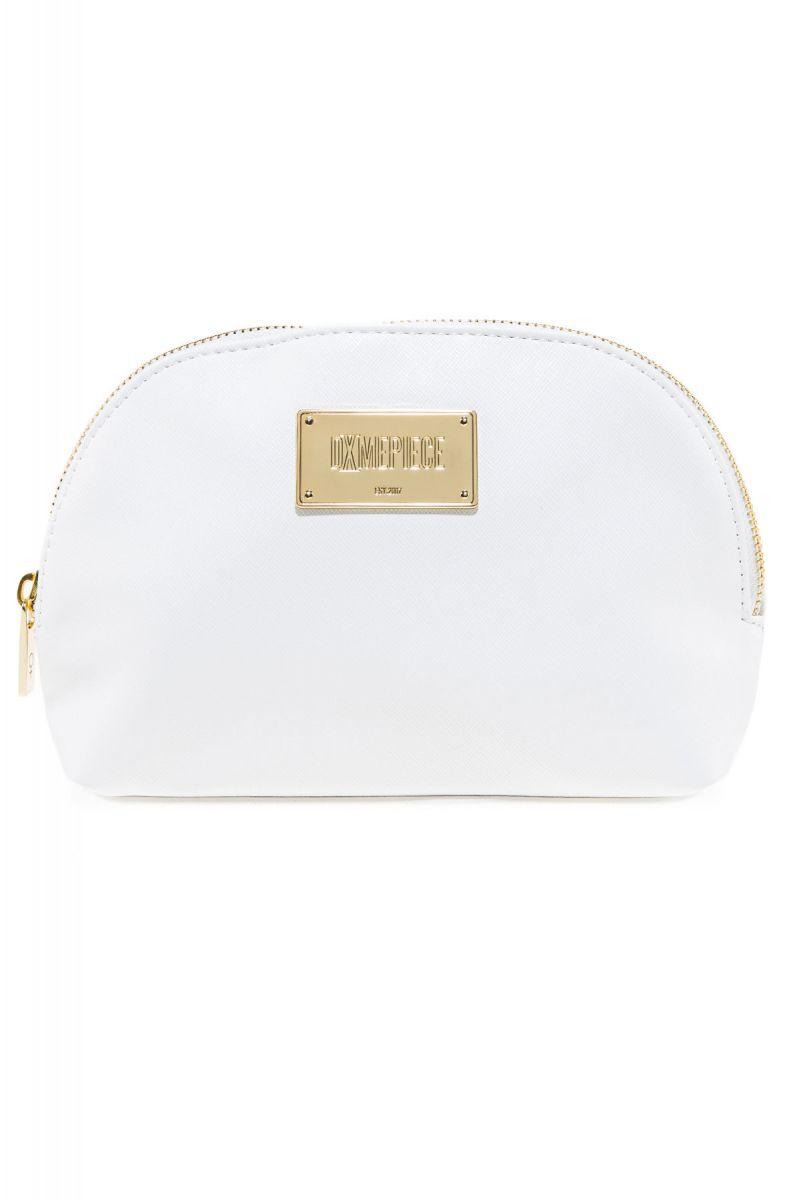 white Dimepiece Women Logo Makeup Bag