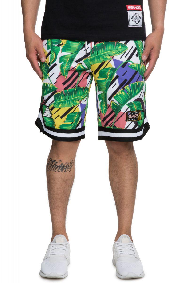 98505477e44 Black Pyramid Shorts Tropical Basketball Green