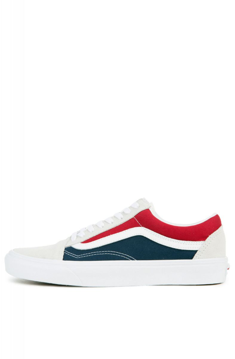 d4c73fa88e5179 Vans Sneaker Men s Old Skool Retro Block White Red Dress Blues
