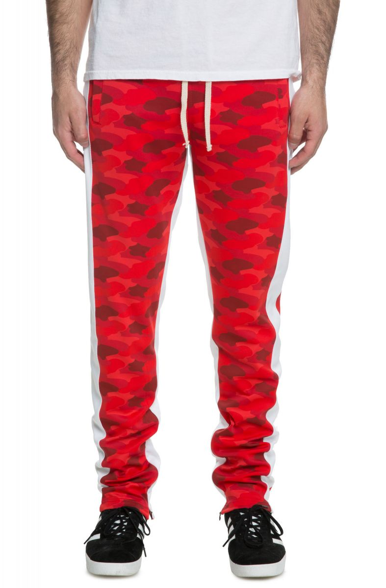 moderate cost official site united kingdom The Bubble Cloud Camo Track Pants in Red Camo