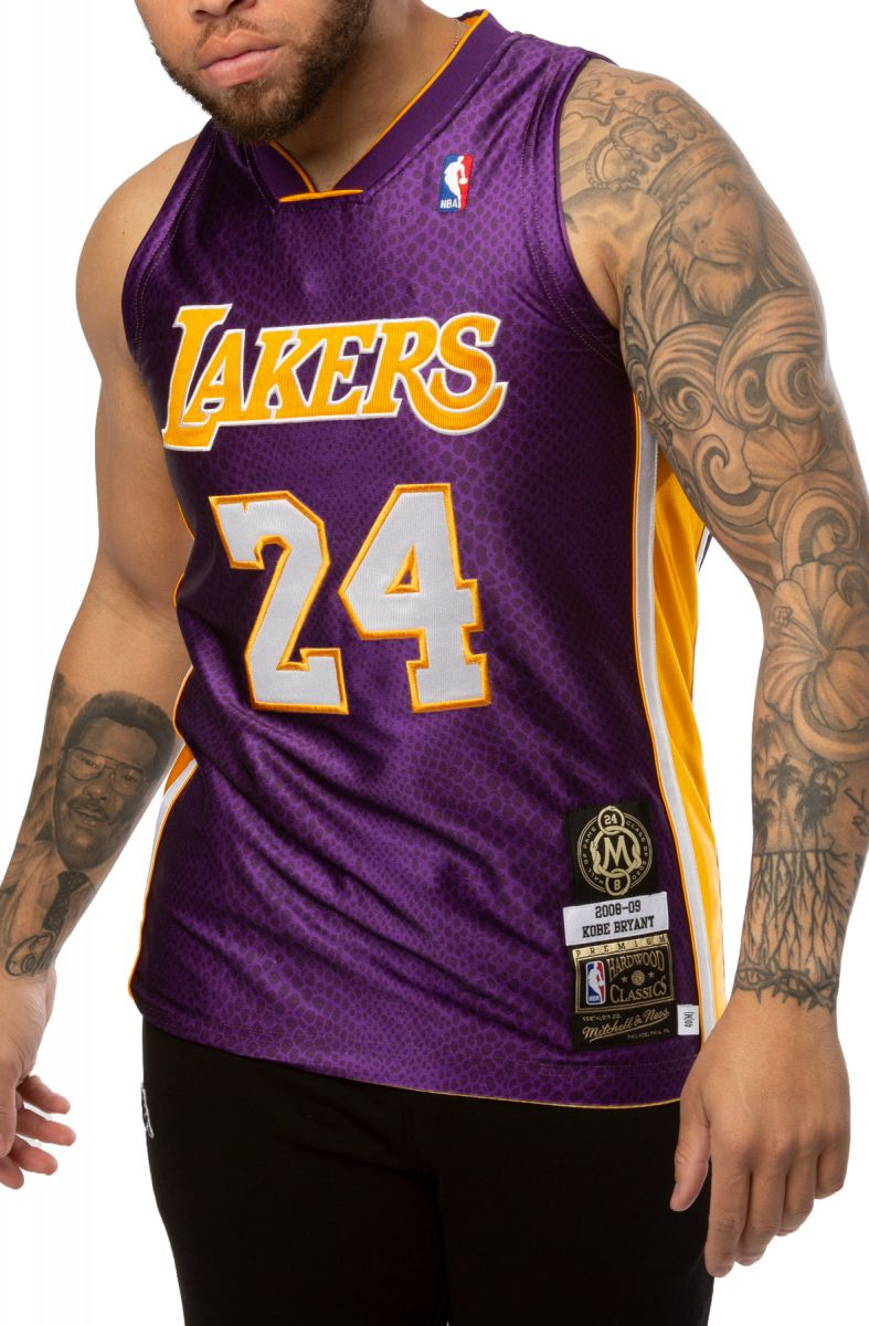 Los Angeles Lakers Kobe Bryant 8/24 Authentic Reversible Jersey