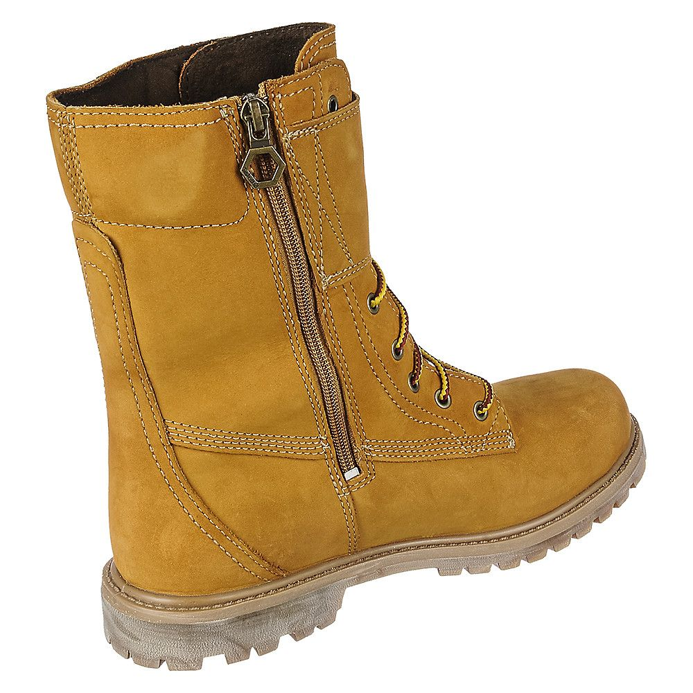 Women's Mid Calf Boot 8 Inch Double Strap