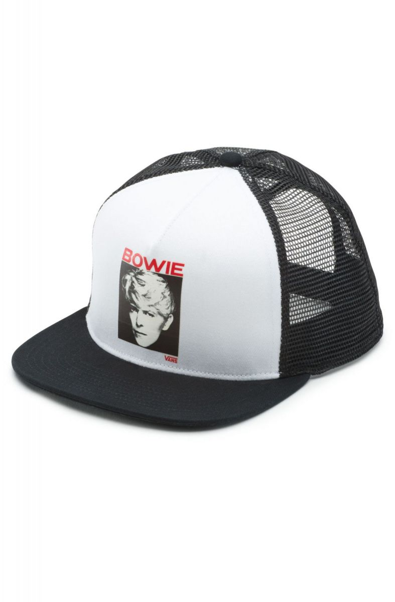 bb00165c222 The Vans X David Bowie Serious Moonlight Trucker Hat in White and ...