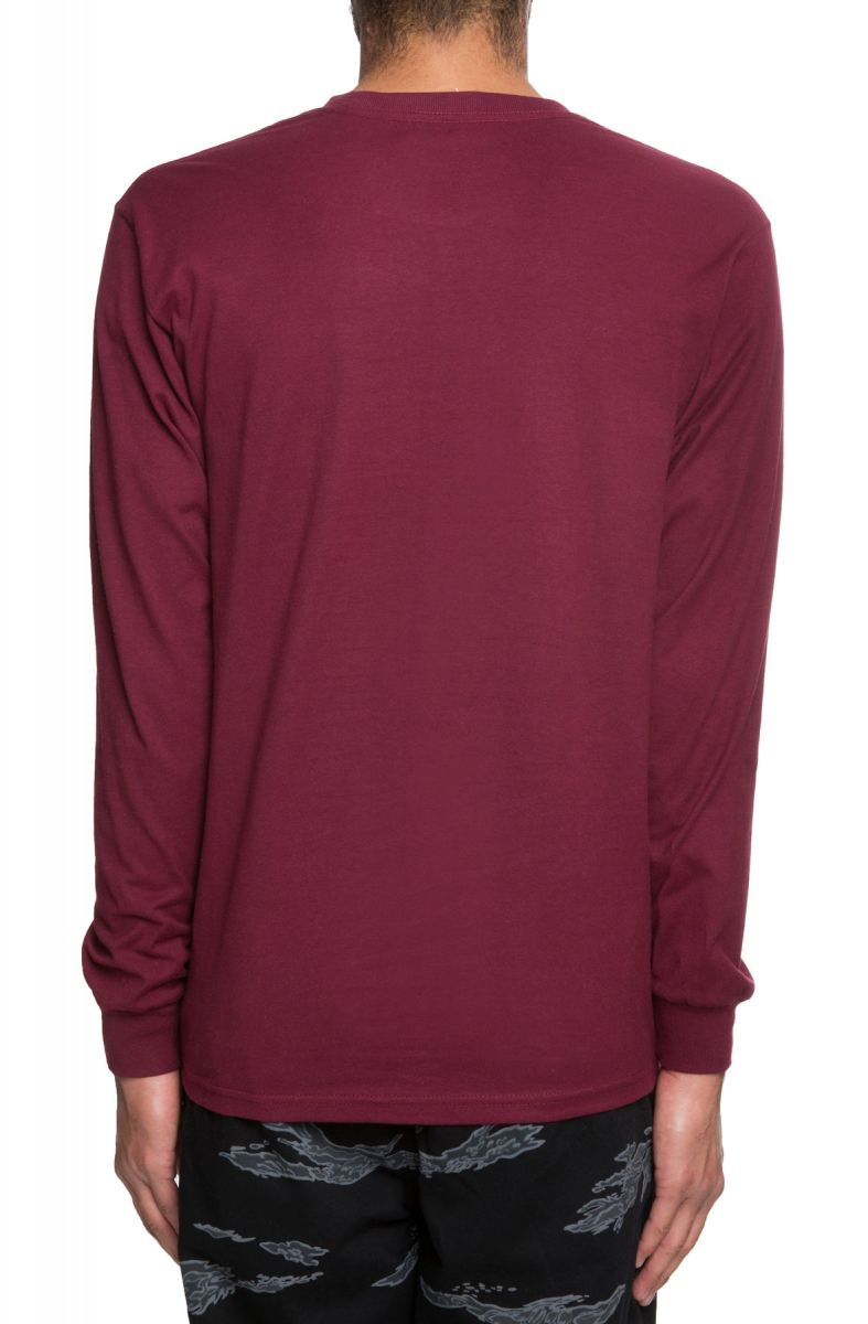 811921151d17 ... The Vans Easy Box Long Sleeve in Burgundy and White