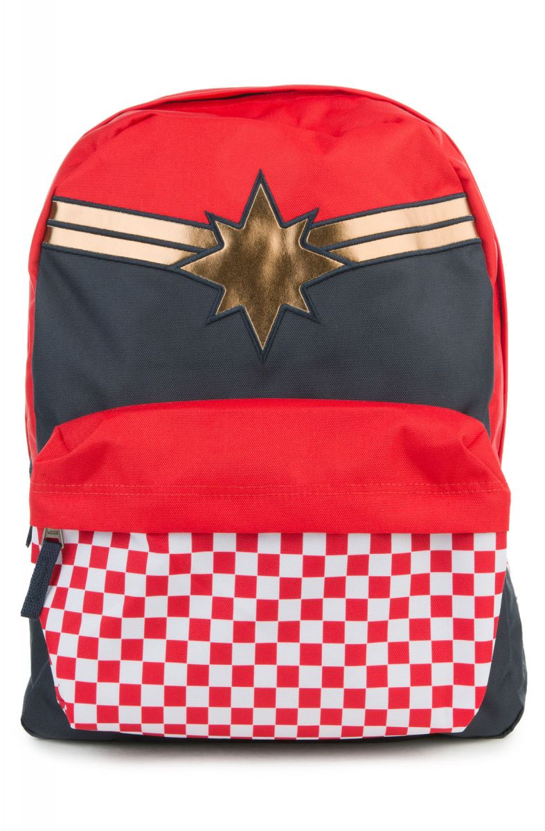 1c6308dc59ed Vans Backpack Captain Marvel Realm Racing Red