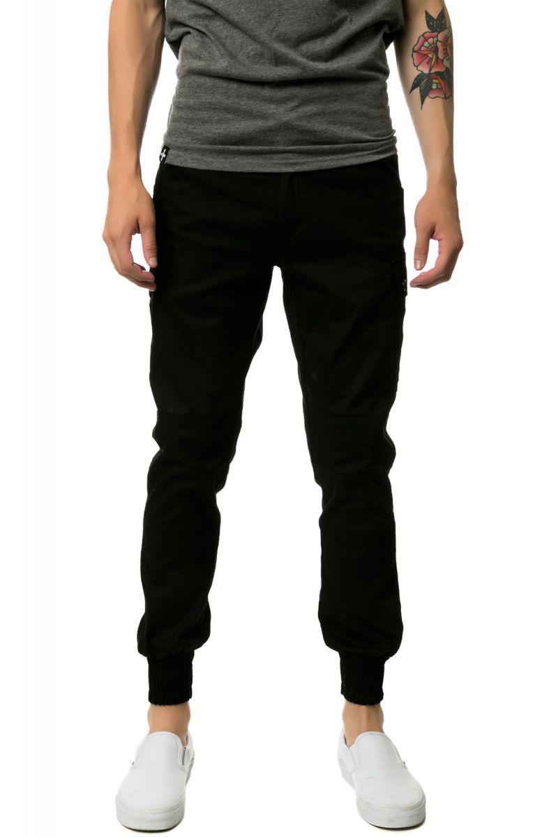 4c687d7fdac6 The Jordan Slim Lightweight Stretch Twill Cargo Jogger Pants in Black ...