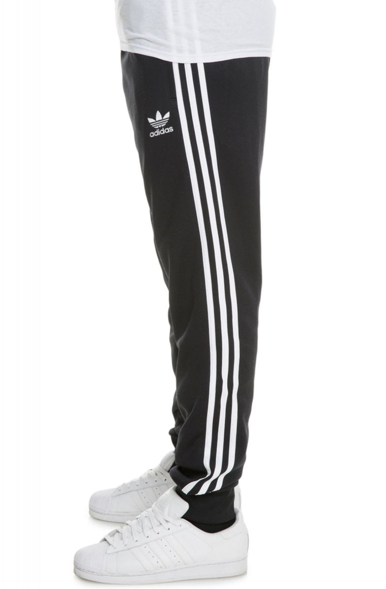 a37b31327f The Adidas Originals SST Cuffed Trackpants in Black