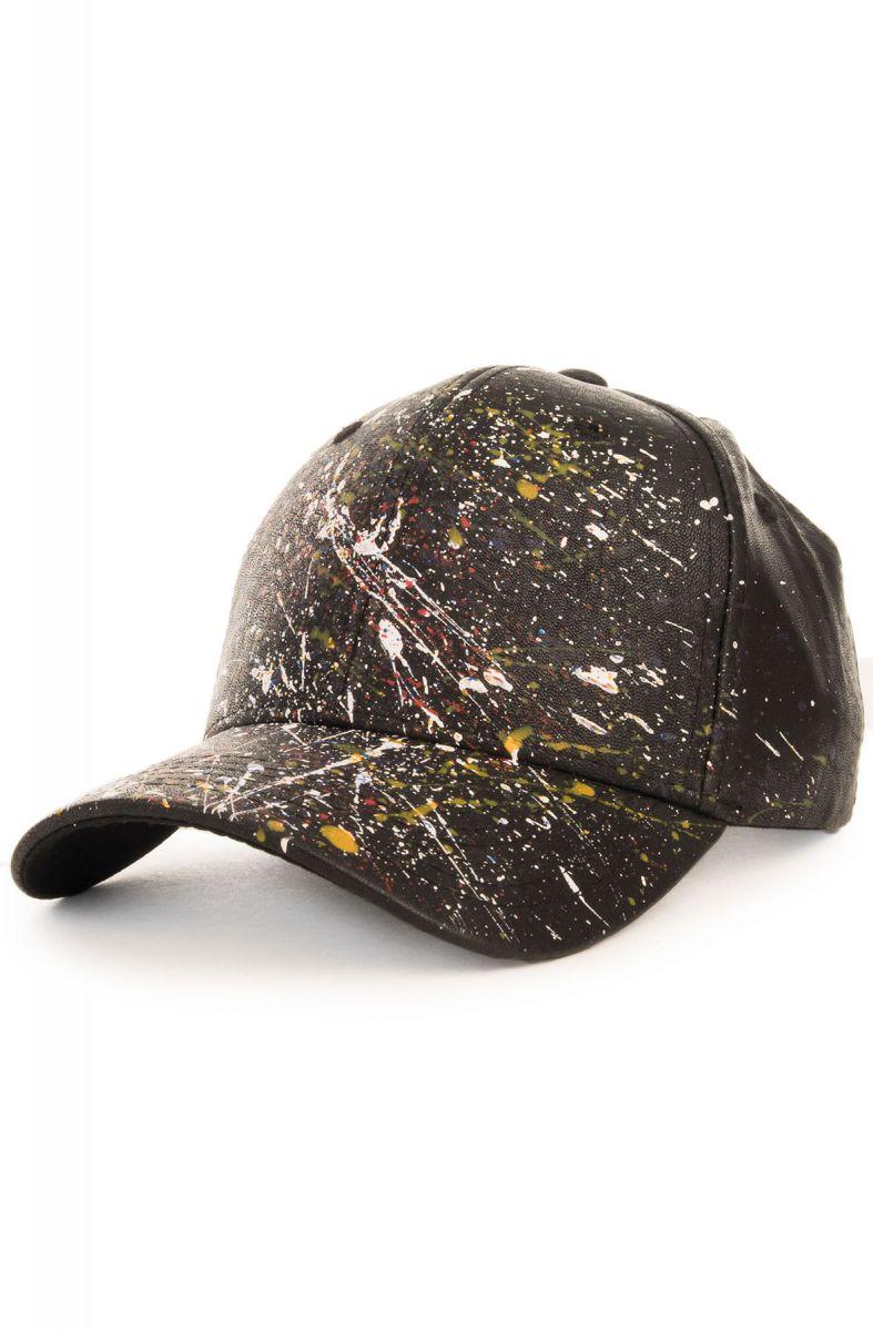 2200206e518 The Half Splatter Dad Cap in Black Multi Color Paint