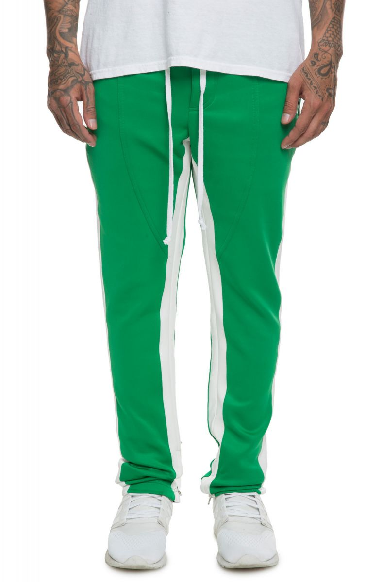f490543f3 The Jenner Bostonian Track Pants in Green and Cream