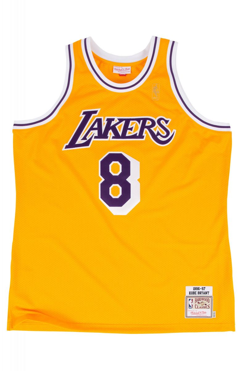 best service 59f0c 90bc5 The LA Lakers Authentic Kobe Bryant #8 Basketball Jersey in Gold