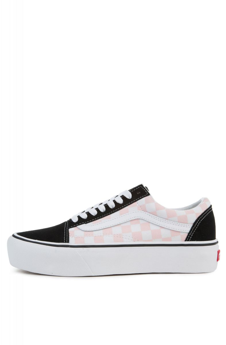808065b7ab The Women s Old Skool Platform in Checkerboard Black and Pink ...