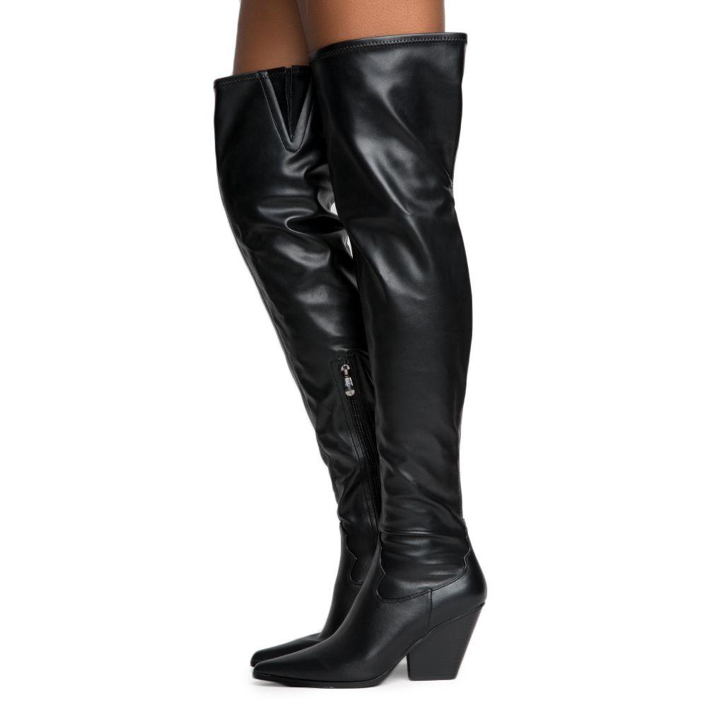 143d52248d7 Cape Robbin Kelsey-9 Women's Black Thigh High Boots