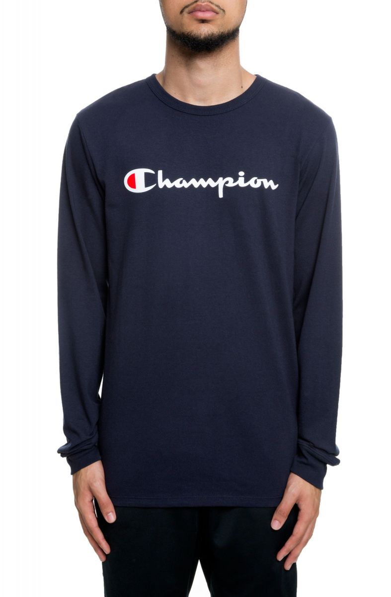 8736f01c7 Heritage Champion Script Long Sleeve Oxford Navy
