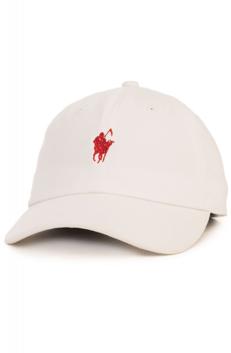 The Pale Horse Dad Hat in White and Red c459cb7890d