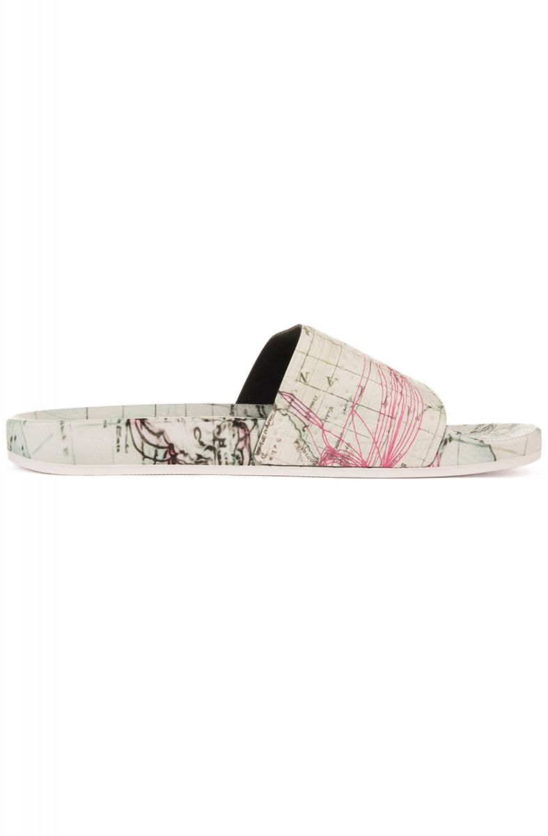 new concept 1ab25 23c54 ... The adidas x Eddie Huang Adilette Slide in White Vapour, White Vapour  and Solar Pink ...