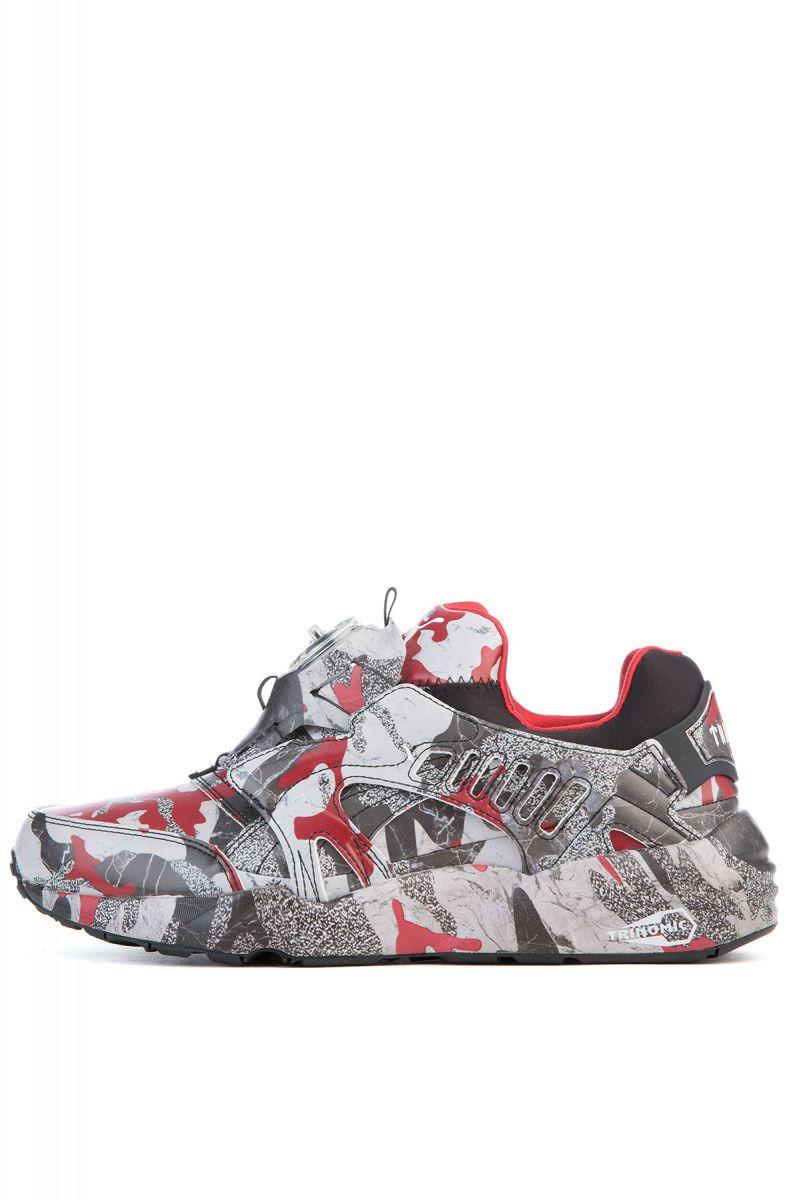 0781f939625a1 Puma Sneaker Puma x Trapstar Disc Blaze Camo Black, White and Barbados  Cherry Red