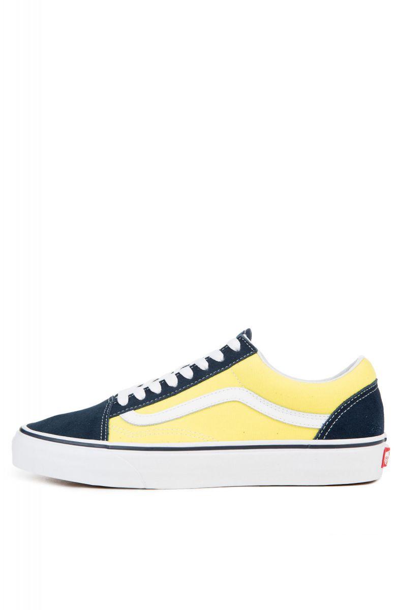 997db7114579 Vans Sneakers Men s Old Skool Dress Blues Sheen Suede Yellow