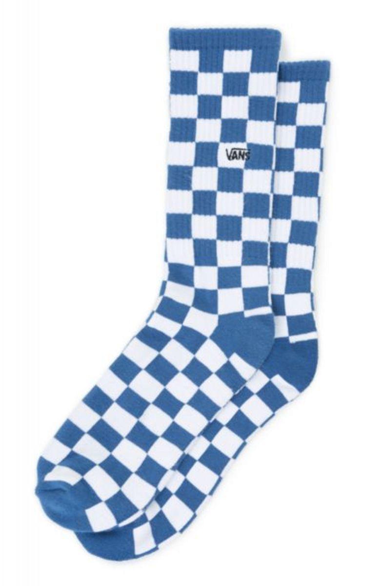 d463003e1c7c9d Checkerboard ll Crew Socks True Blue White