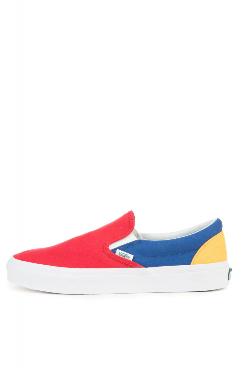 5dbfccc3d36c Vans Sneaker Classic Slip-On Vans Yacht Club Red Blue Yellow