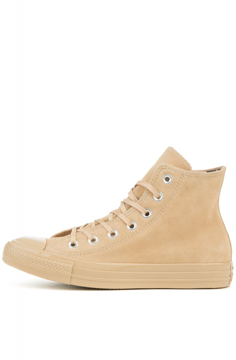 2ef8e495d599ee Converse Sneakers Chuck Taylor All Star - Hi Mono Plush Suede Light Fawn  Brown