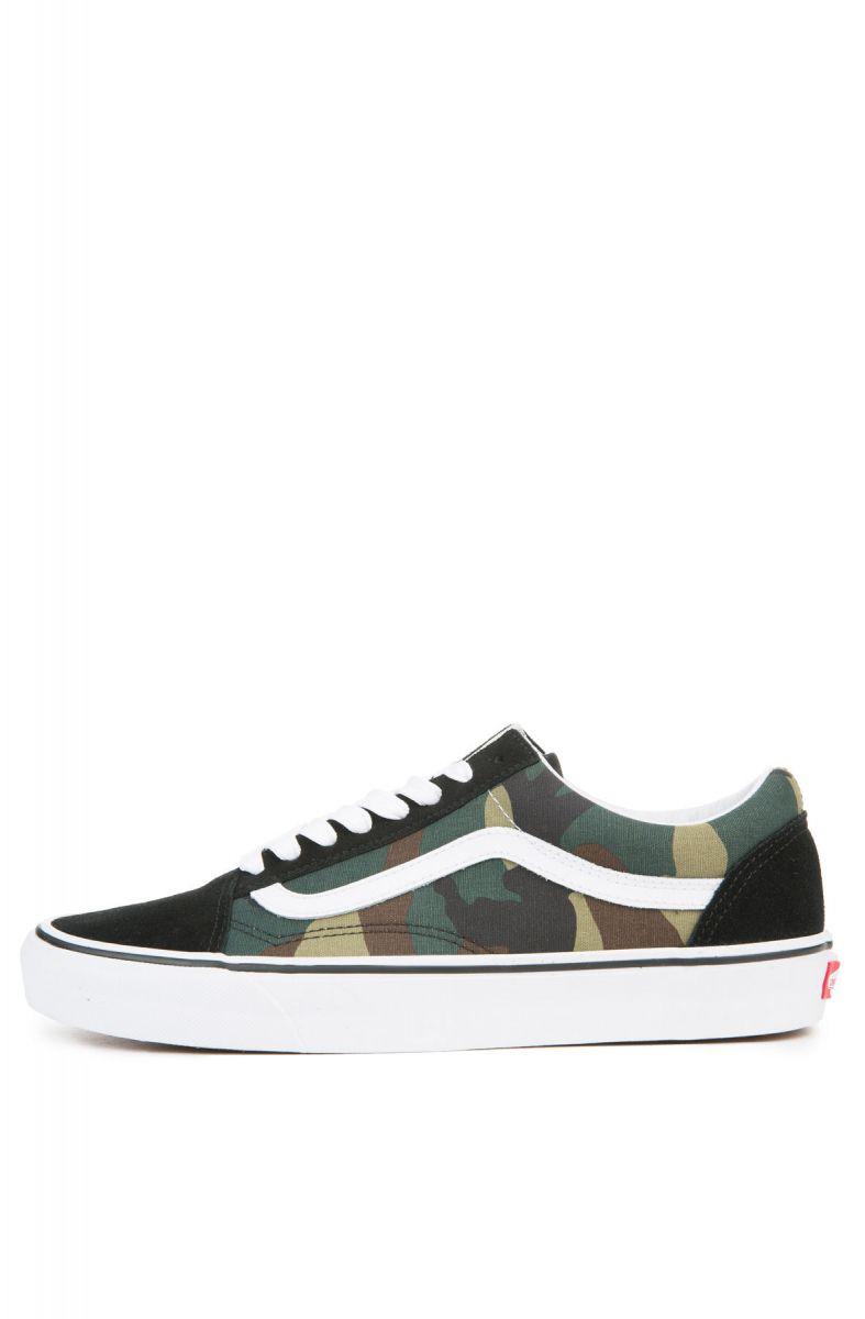 9aea8acc175a8e Vans Sneaker Old Skool Woodland Camo Black Woodland Green