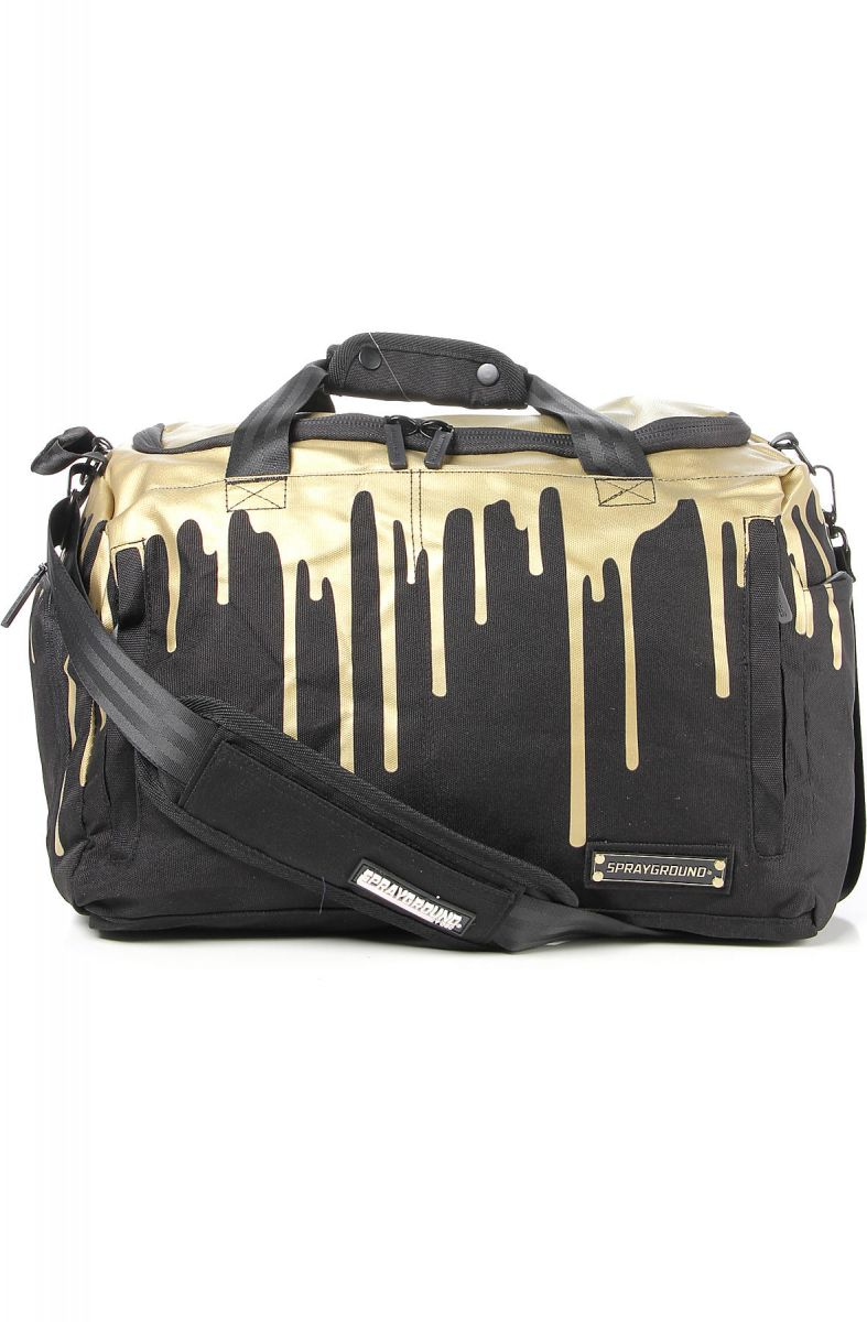 The Gold Drips Large Duffle Bag In Black