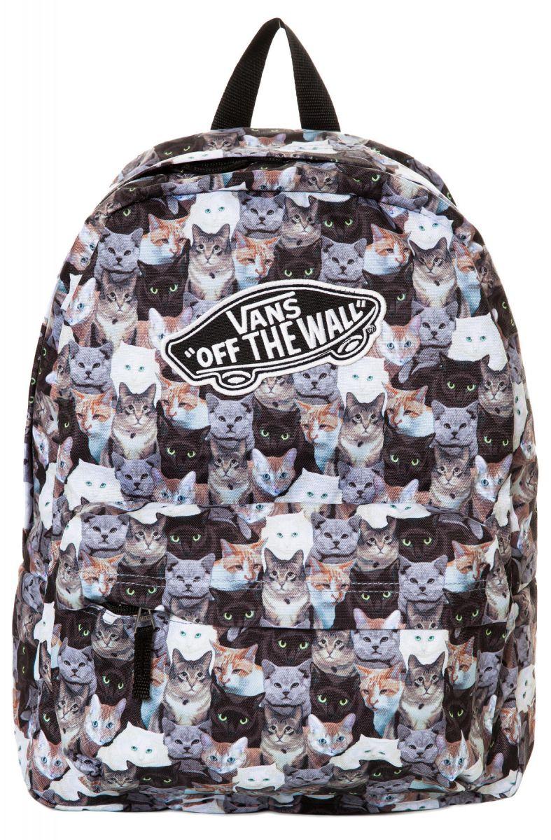 fdd9acaba4 Vans Backpack The Vans x Aspca Realm Cat in Black and Brown