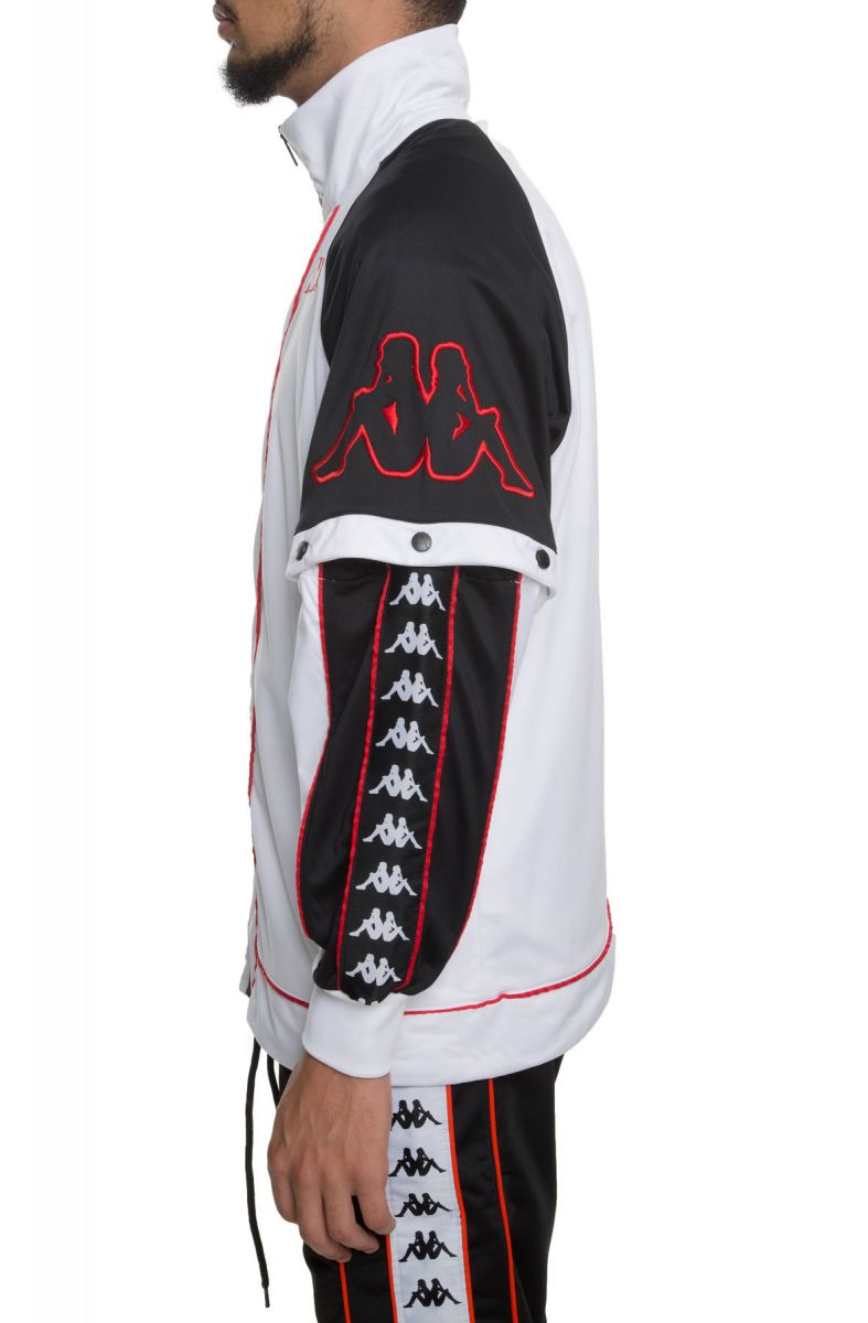0395cc80d The 222 Banda Big Bay Jacket in White, Black and Red