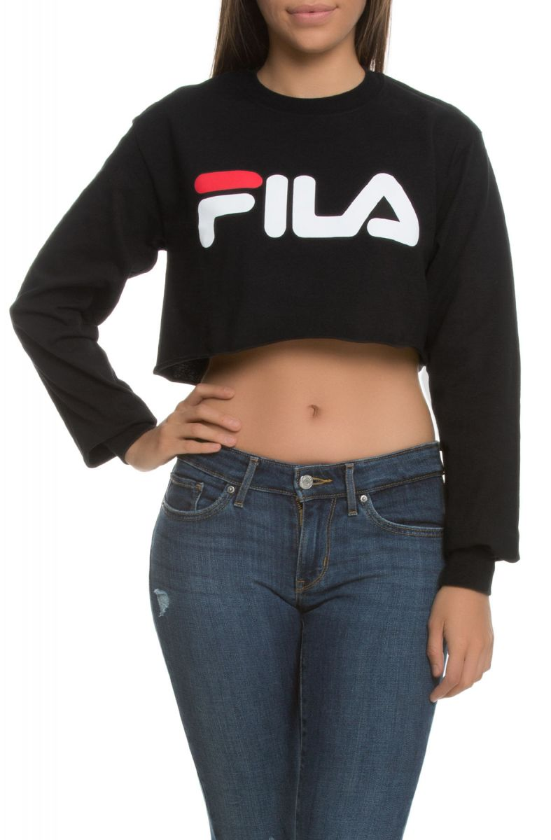 bee3e660f97 Fila Crop Tee Colette Long Sleeve Black, White Chinese Red