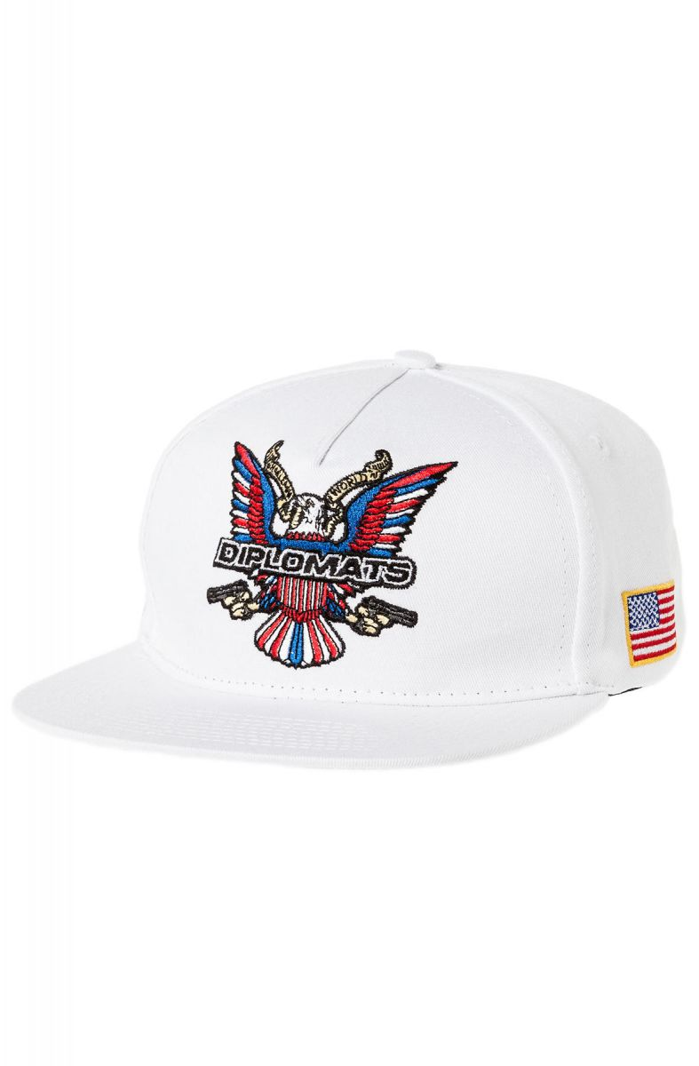 Dipset Hat Diplomats Eagle Snapback in White a6e9ee4d688