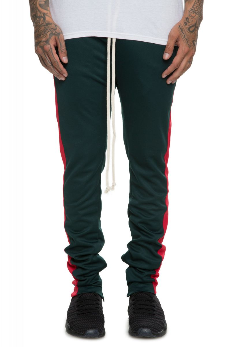 f22420fbe35375 EPTM Pants Side Stripe Track Green Red