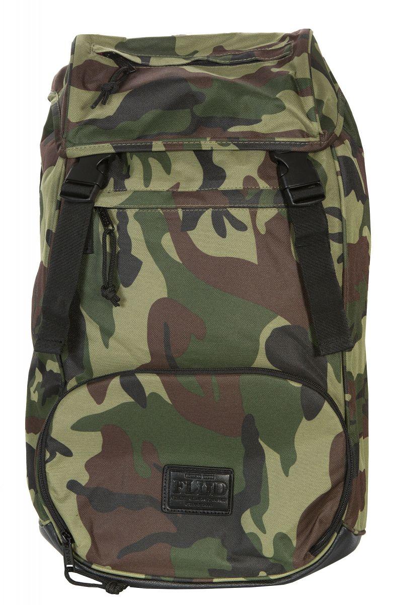 10cf656d72e096 Flud Watches Backpack Mayor Tech Camo Green