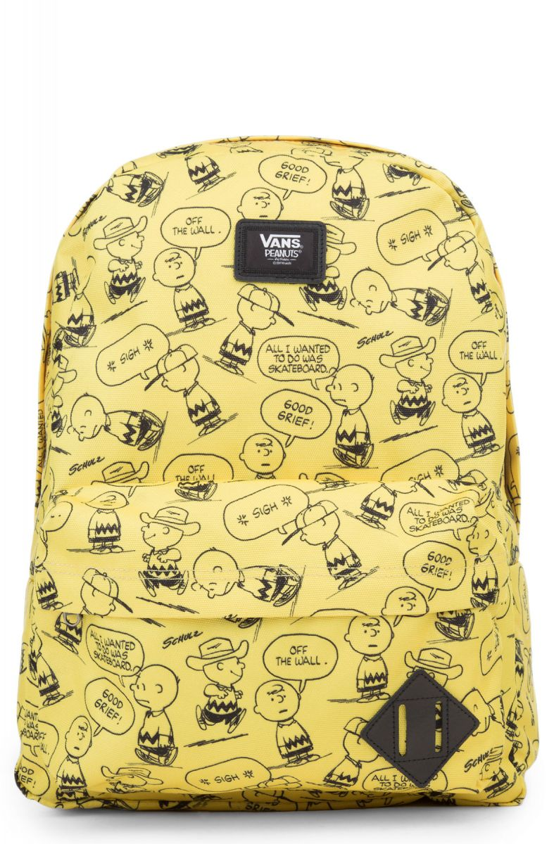 VANS Backpack x Peanuts Charlie Brown Old Skool II Yellow ef79aac0b