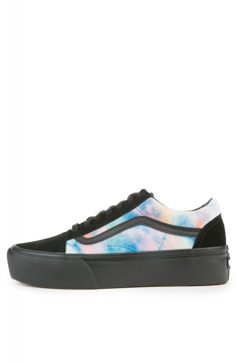 9b720e254fa773 The Women s Old Skool Platform in Velvet Tie Dye Multi and Black ...