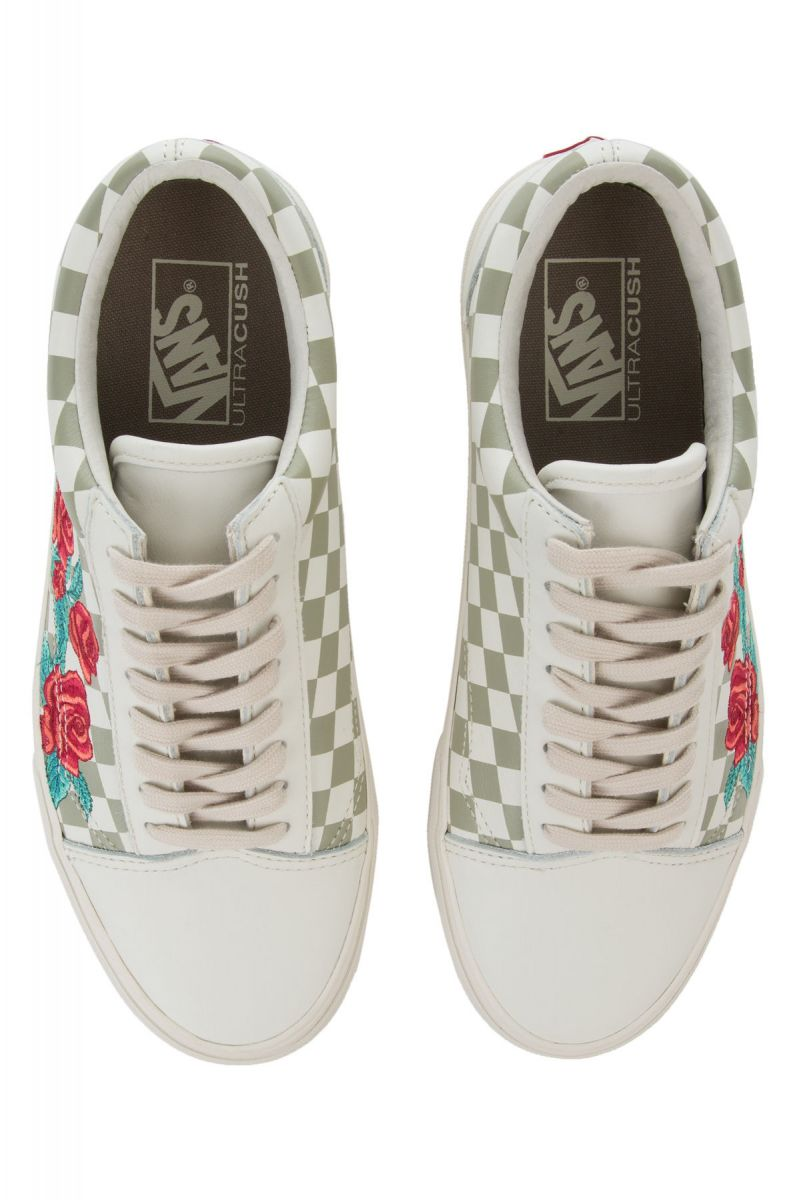 ... The Old Skool DX Rose Embroidery in Marshmallow and Turtle Dove ... dbac5c22a