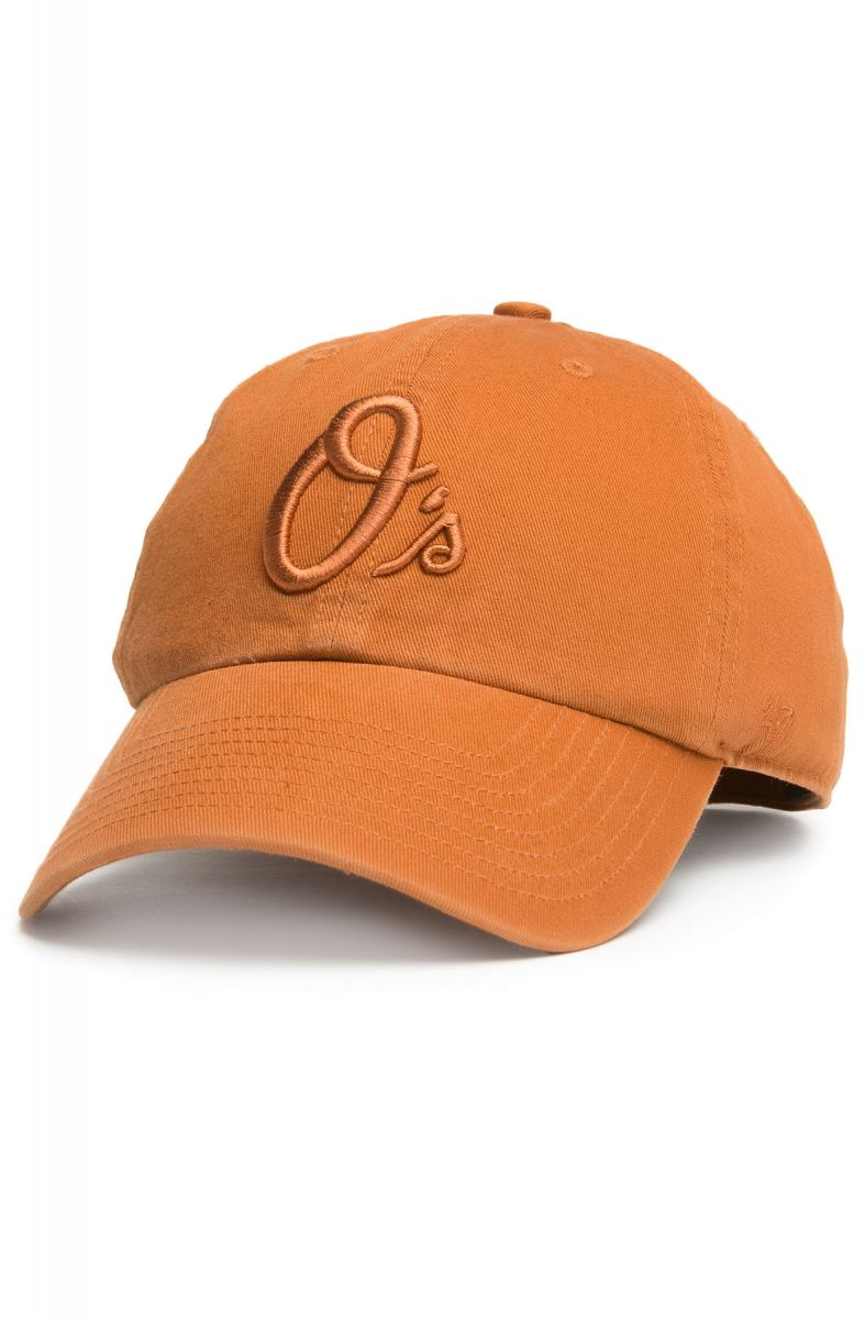 47 Brand Hat Baltimore Orioles  47 Brand Clean Up Tonal Dad Hat in Burnt  Orange 12939d63804