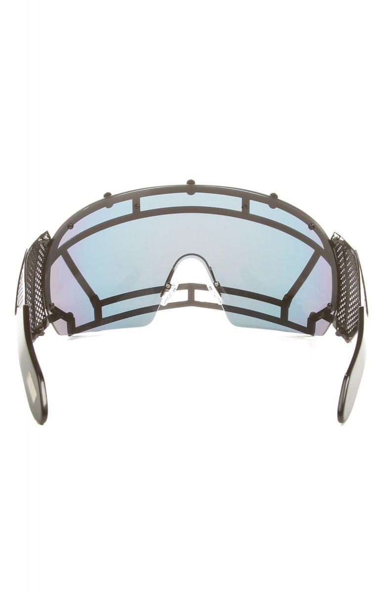 4fa9fd02177c ... The KTZ x Linda Farrow Football Helmet Sunglasses in Black Stainless  Steel ...