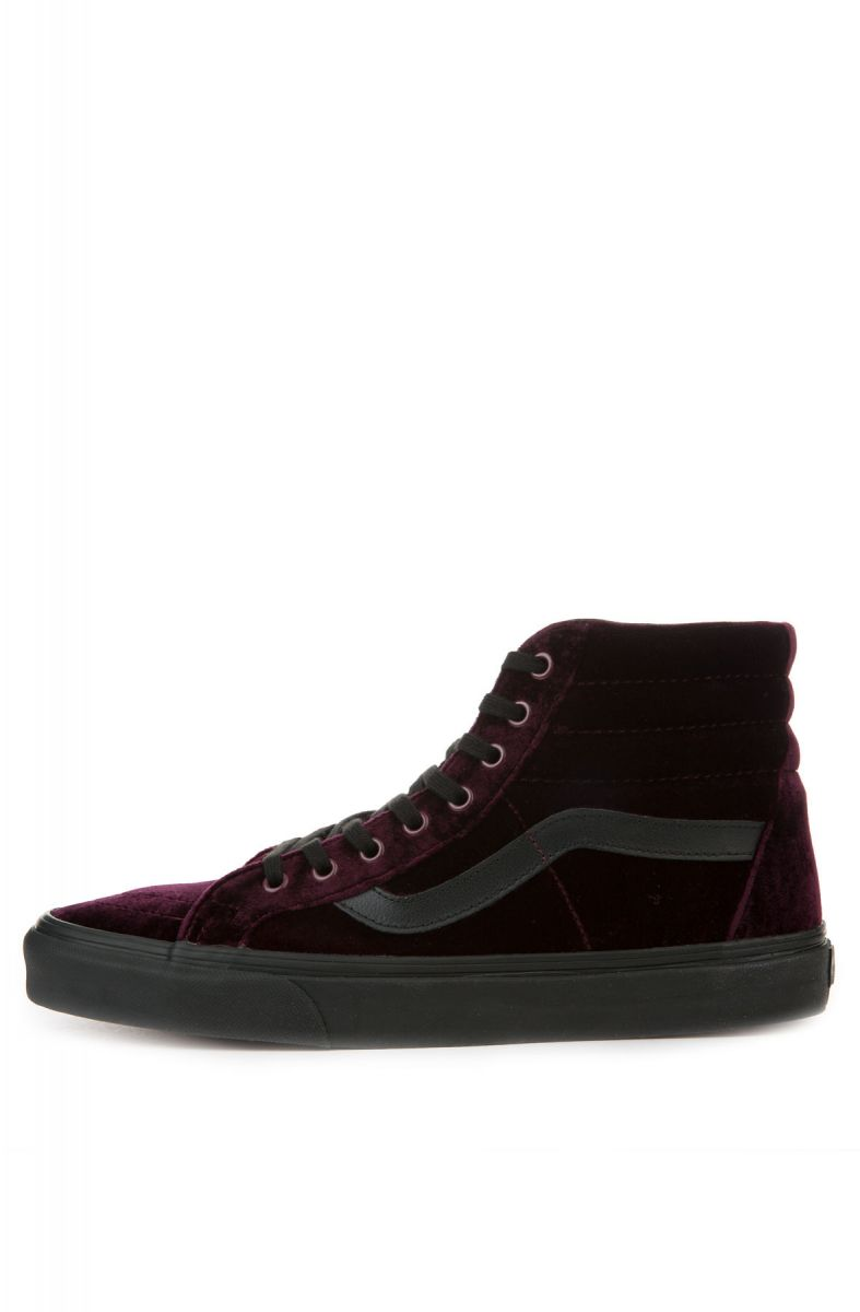 48df3527ba Vans Sneakers SK8 Hi Reissue Velvet Red Black