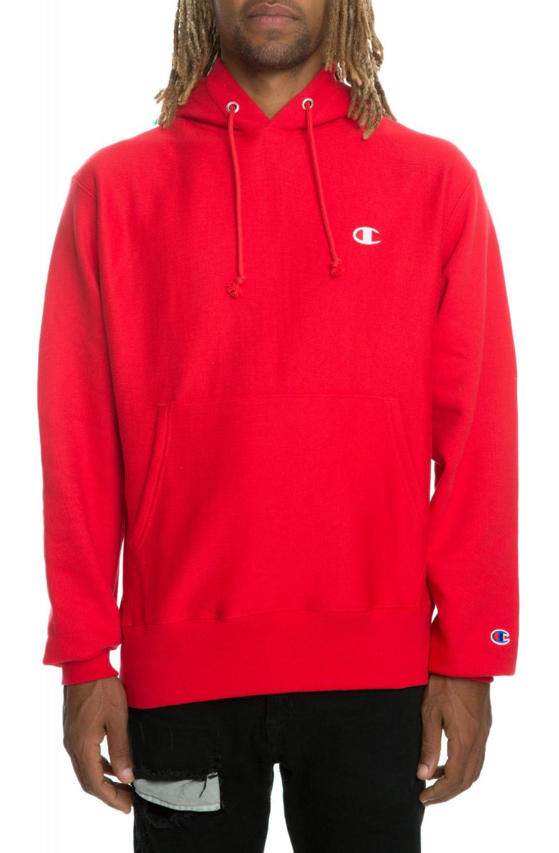 Team In Scarlet Red Weave The Pullover Hoodie Reverse WHIe2YED9