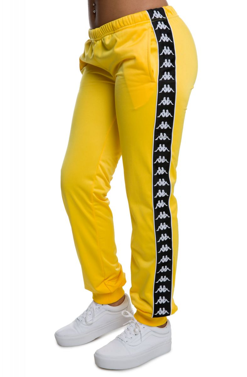 e2d60d37d8 222 Banda Wrastoria Slim Alternating Banda Track Pants in Yellow