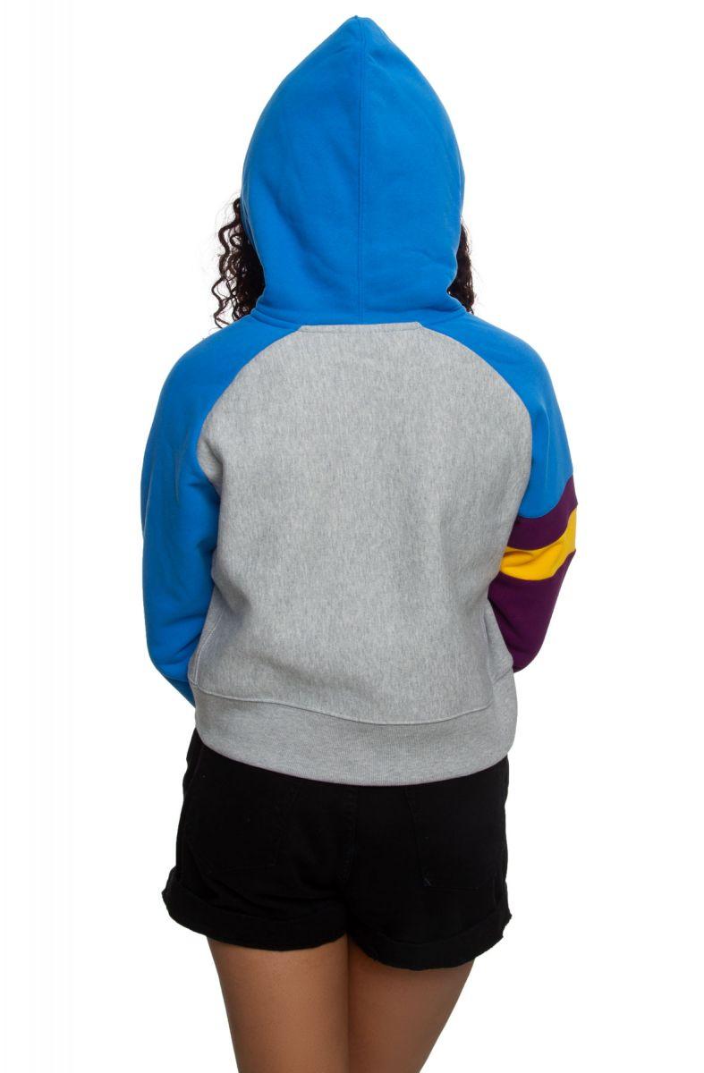 Champion Womens Reverse Weave Colorblock Oversized 1//2 Zip Hood