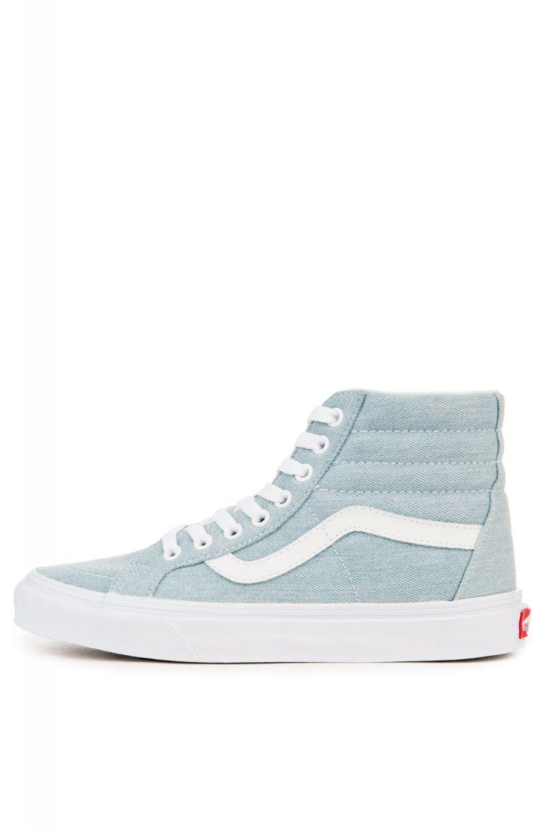 86e3cb3947 Vans Sneaker Women s SK8-HI Reissue Denim Baby Blue