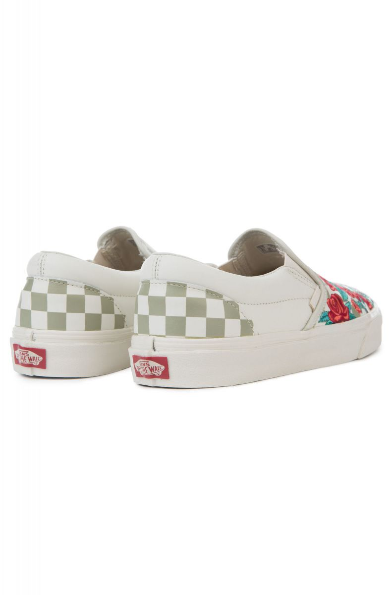 3750a5eca05 The Classic Slip-On DX Rose Embroidery in Marshmallow and Turtledove