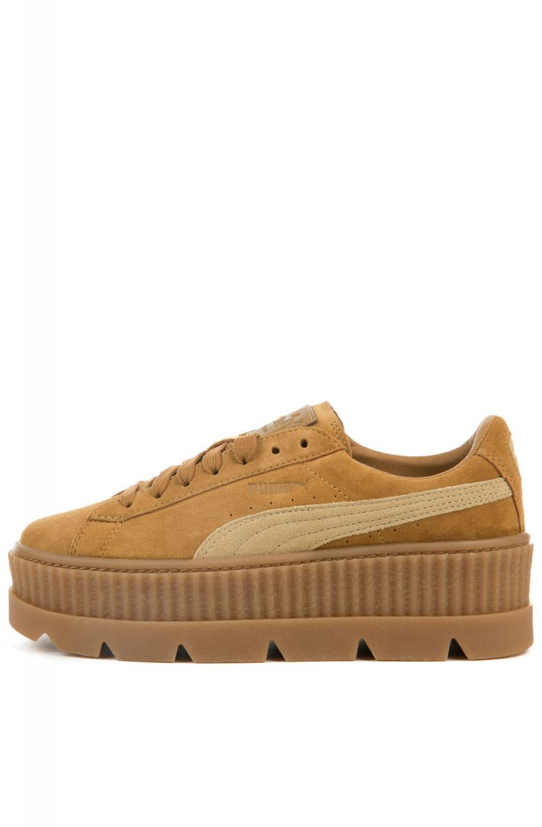 brand new 15ba8 27f22 The Puma x Fenty Women's Cleated Creeper Suede in Golden Brown and Lark