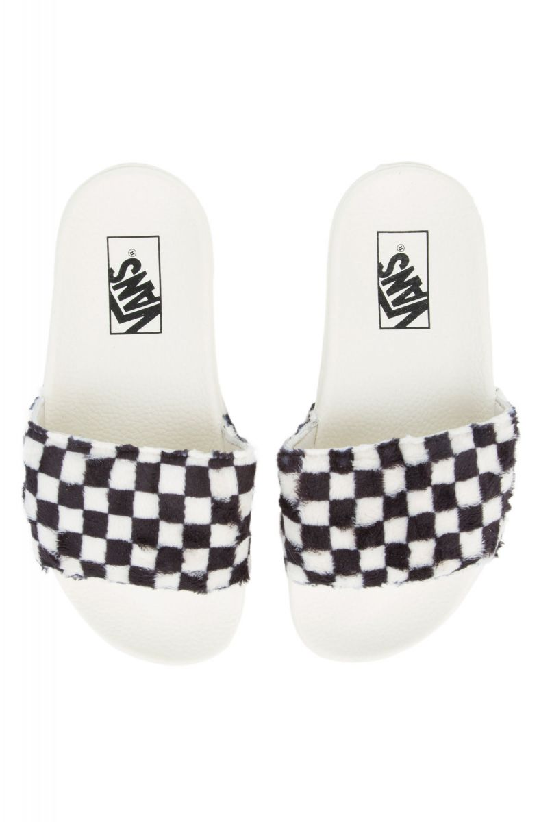 83a783f4eb9 The Women s Slide-On Sherpa Checkerboard in Black and True White ...